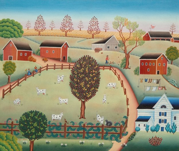 Breeding Farm 1982 28x32