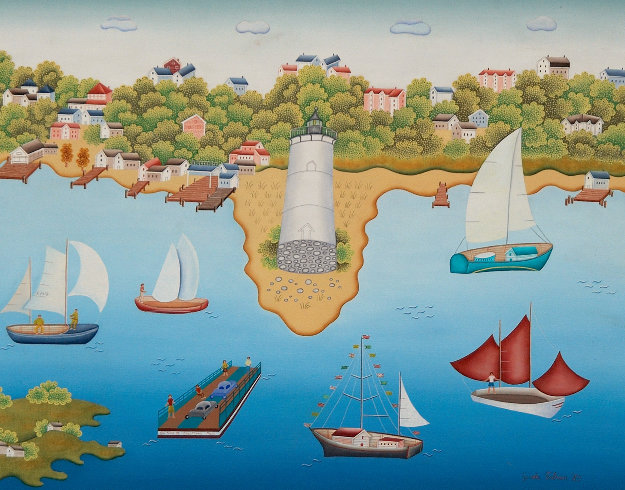 Regatta At Martha's Vinyard 1985 28x34