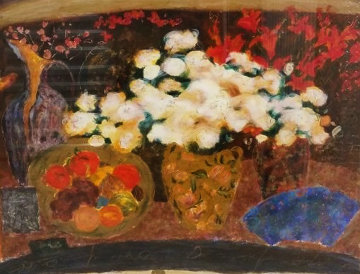 Red And White Flowers 1994 Limited Edition Print - Roy Fairchild-Woodard