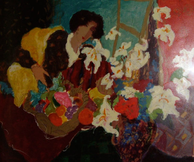 Girl With Lilies 1992
