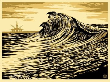 Water Is the New Black 2015 Limited Edition Print - Shepard Fairey