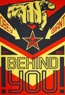 Behind You (Large Format) 2009 Limited Edition Print - Shepard Fairey