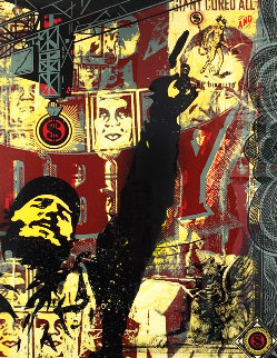 Castro Collage, From This is You God Series (Large Format) 2003 Limited Edition Print - Shepard Fairey