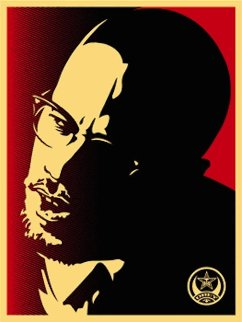 Malcolm X Red 2006 Limited Edition Print - Shepard Fairey