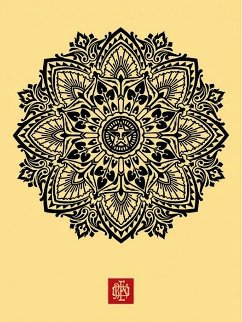 Mandala Ornament 1 Cream 2010 Limited Edition Print - Shepard Fairey