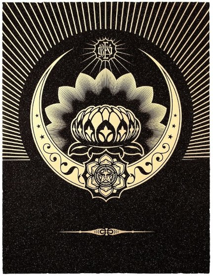 Obey Lotus Crescent (Black/Gold) 2013