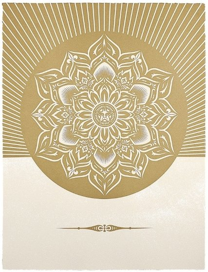 Obey Lotus Diamond (White/Gold) 2013 Limited Edition Print by Shepard Fairey