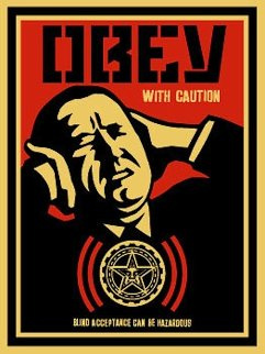 Obey With Caution (P. 339) 2002 Limited Edition Print - Shepard Fairey