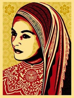 Peace Woman 2008 Limited Edition Print - Shepard Fairey