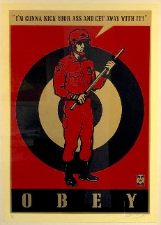 Riot Cop Large Format 2009 Limited Edition Print - Shepard Fairey