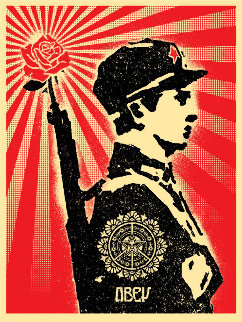 Rose Soldier 2006 Limited Edition Print by Shepard Fairey