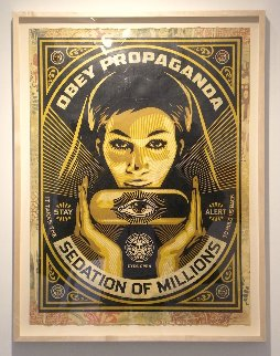 Sedation Pill 2013 40x30 Hand Painted Works on Paper (not prints) - Shepard Fairey