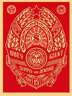 Supply And Demand (Red) 2004 Limited Edition Print - Shepard Fairey