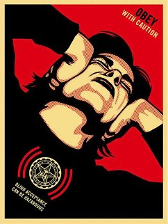 Obey With Caution 2008 Limited Edition Print - Shepard Fairey