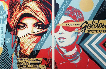Golden Future For Some 2017 Limited Edition Print - Shepard Fairey