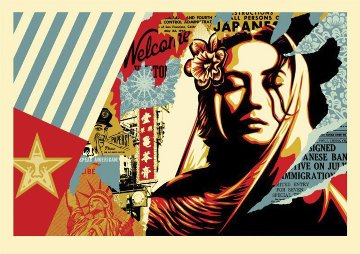 Welcome Visitor, Large Format 2018 Limited Edition Print - Shepard Fairey
