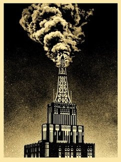Oil And Gas Building 2014 Limited Edition Print - Shepard Fairey