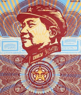 The Beloved Premier, We Are Blinded By Your Majesty (Mao Money Red)    2003 Limited Edition Print - Shepard Fairey