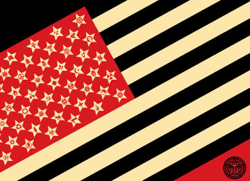 Mayday Flag Limited Edition Print - Shepard Fairey
