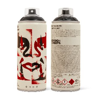 Cut It Up Spray Paint Can Og Andre Face Spray Can Sculpture 9 in Sculpture - Shepard Fairey