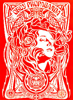 Nouveau Red 2006 Limited Edition Print - Shepard Fairey