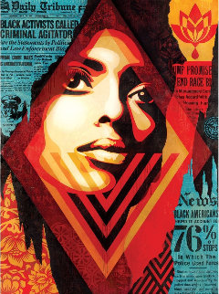 Bias By Numbers Limited Edition Print - Shepard Fairey