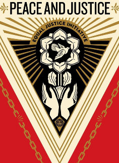 Peace And Justice Summit Limited Edition Print - Shepard Fairey