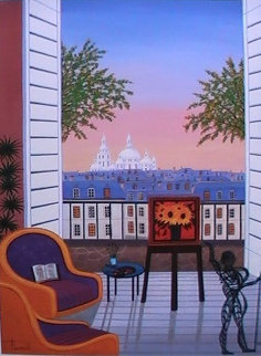 Balcony Over Montmartre 2010 Limited Edition Print - Fanch Ledan