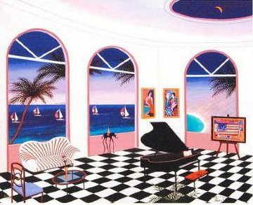 Interior With Checkered Floor 2010 Limited Edition Print - Fanch Ledan