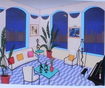 Interior With Primitive Art Limited Edition Print - Fanch Ledan