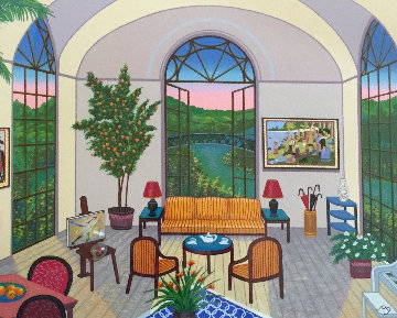 Interior With Seurat 1995 Limited Edition Print by Fanch Ledan