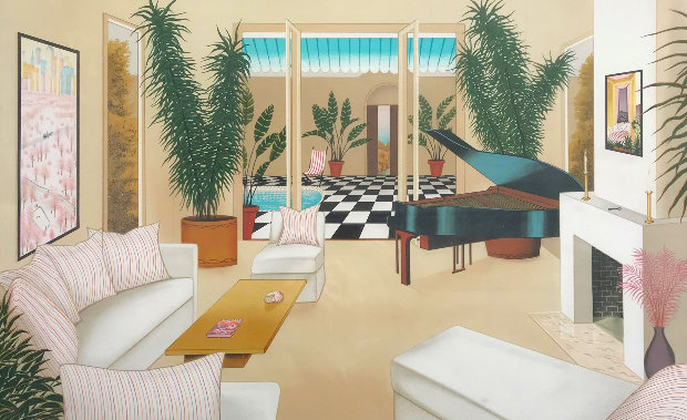 Patio With Grand Piano 1991
