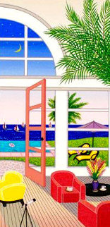 Pool House in Palm Beach AP 2002 Limited Edition Print - Fanch Ledan