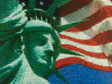 Statue And Flag 2005 Limited Edition Print - Neil J. Farkas
