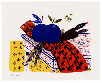 Still Life (Fruit, Scarf, and Bees) Limited Edition Print - Alexandre Fassianos
