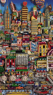 Movin' on Up to the Eastside  3-D 2000  Limited Edition Print - Charles Fazzino