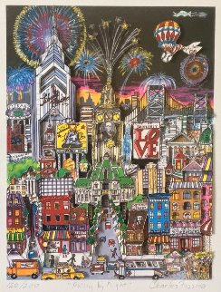 Philly By Night 3-D 1980 Limited Edition Print - Charles Fazzino
