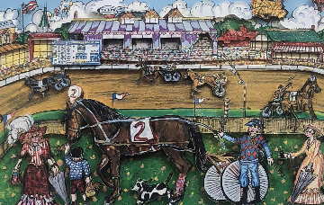 Life Is A Horse Race 3-D 1980   Limited Edition Print - Charles Fazzino