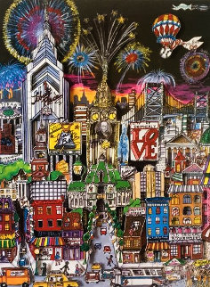 Philly By Night 3-D 1988 Limited Edition Print - Charles Fazzino