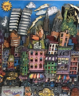 New York's Crackin Up 3-D 1992 Limited Edition Print - Charles Fazzino
