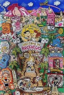 Welcome to Rock Vegas 3-D 1995 Limited Edition Print - Charles Fazzino