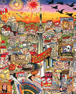 Meet Me in Toronto 3-D Limited Edition Print - Charles Fazzino