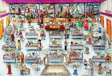 9 to 5  1994 3-D Limited Edition Print - Charles Fazzino