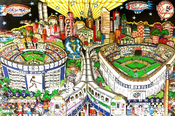 Finally, a Subway Series!! 3-D 2000 Limited Edition Print - Charles Fazzino