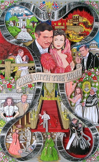 Gone With the Wind 3-D 1999 Limited Edition Print - Charles Fazzino