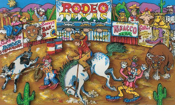 Rodeo Round Up 3-D Limited Edition Print - Charles Fazzino