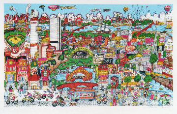Bean Town 3-D Boston 1991 Limited Edition Print - Charles Fazzino