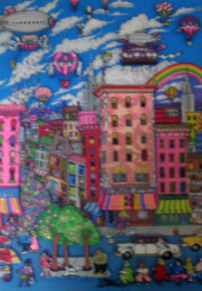 Manhattan Mania 3-D New York 1993 Limited Edition Print - Charles Fazzino