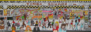 Only in the Subway 3-D 1992 New York 44x23 Limited Edition Print - Charles Fazzino