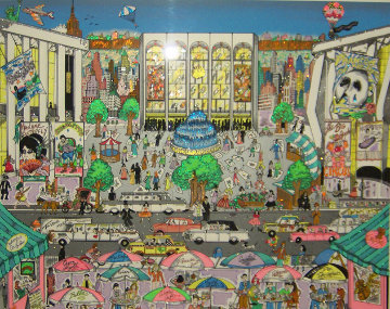 Brunch At The Met 3-D New York Limited Edition Print - Charles Fazzino